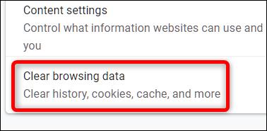 Cliquez sur Effacer les données de navigation