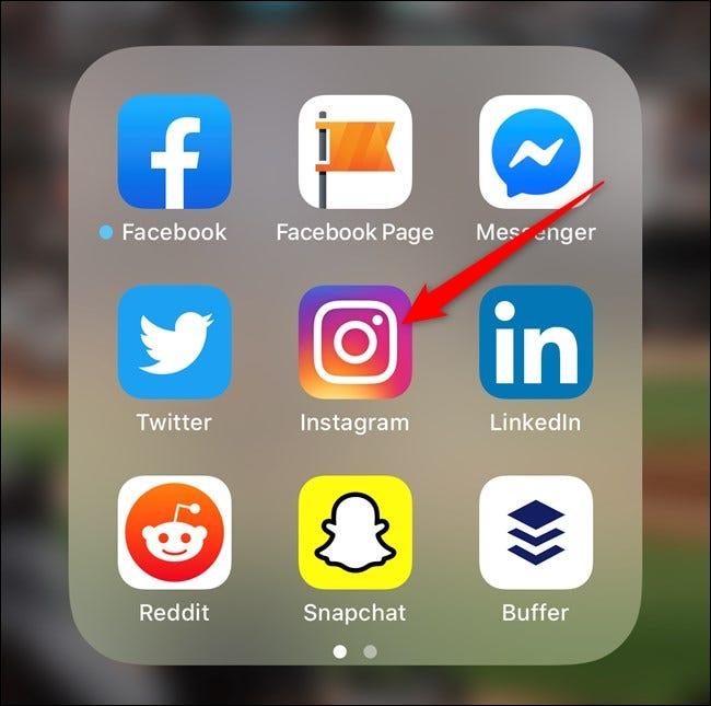 Ouvrez l'application Instagram sur votre smartphone
