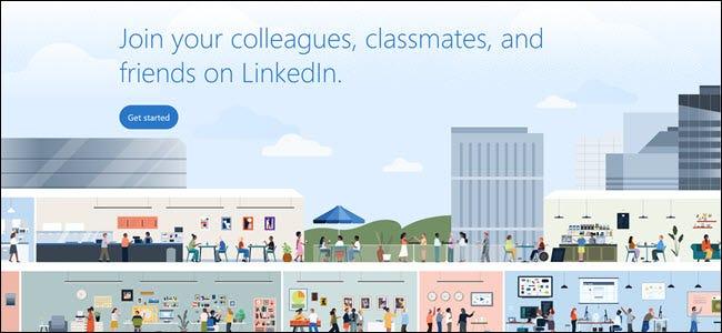 """Graphique LinkedIn vous encourageant à rejoindre votre """"collègues, camarades de classe et amis"""" sur le site."""