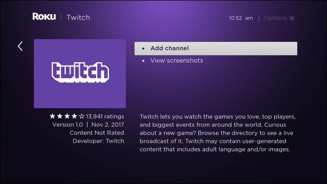 Roku a abandonné l'application Twitch officielle