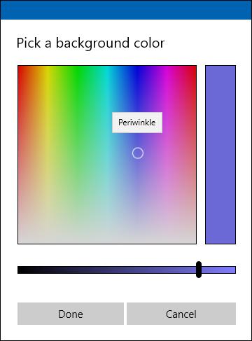 sélecteur de couleur personnalisé