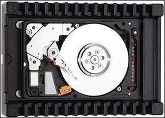 Image d'un plateau de disque dur.