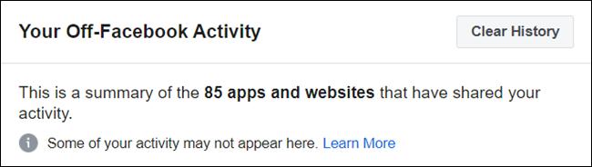 Un résumé de toutes les applications et sites Web.