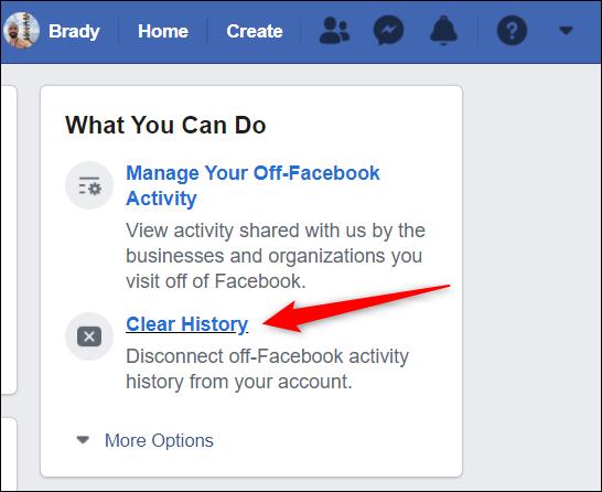"""Cliquez sur """"Histoire claire"""" du côté droit de la page."""