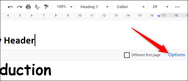 """Cliquez sur """"Options"""" pour changer les marges."""