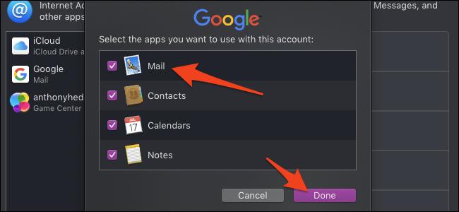 Choisissez les fonctionnalités de messagerie à activer