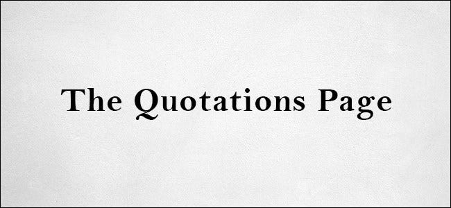 Le logo de la page de citations