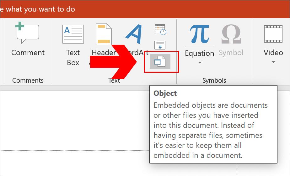 Pour insérer un lien vers un document PDF dans PowerPoint, cliquez sur Insérer> Objet» width=»924″ height=»562″ onload=»pagespeed.lazyLoadImages.loadIfVisibleAndMaybeBeacon(this);» onerror=»this.onerror=null;pagespeed.lazyLoadImages.loadIfVisibleAndMaybeBeacon(this);»/></p> <p>Dans le menu de sélection «Insérer un objet», sélectionnez «Créer à partir d'un fichier», puis cliquez sur «Parcourir» pour sélectionner votre document PDF enregistré.</p> <p><img loading=