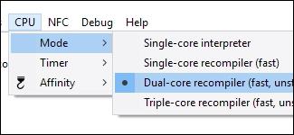 Recompilateur Dual-Core en mode CPU