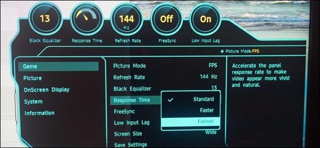 Les moniteurs de jeu ont des modes spéciaux à faible temps de réponse.