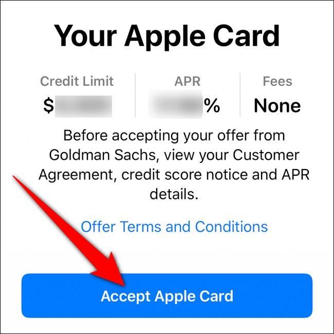 iPhone Wallet accepte la carte Apple