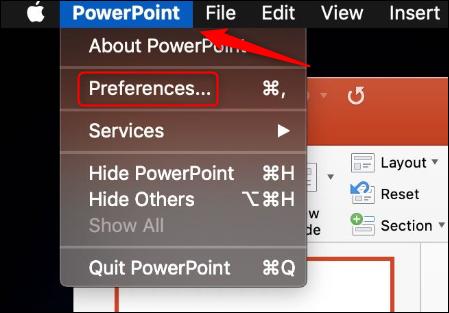 Préférences PowerPoint