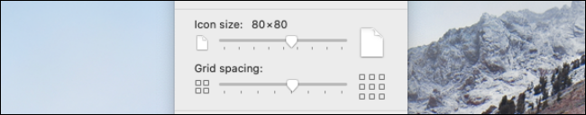 Modifier la taille de l'icône ou l'espacement de la grille pour le bureau Mac