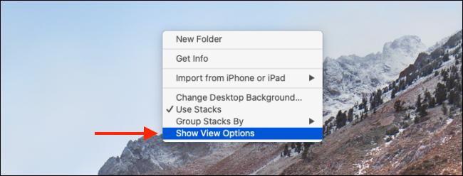 Cliquez sur le bouton Afficher les options d'affichage