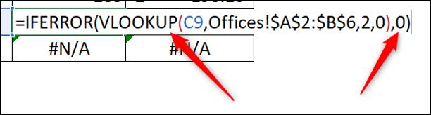 Fonction IFERROR pour afficher 0 au lieu d'erreur