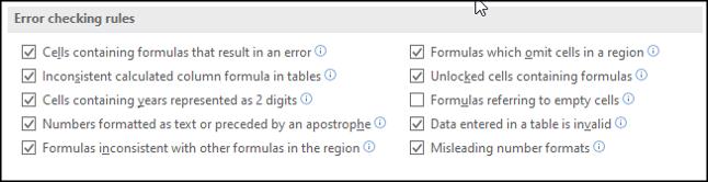 Désactiver les règles de vérification des erreurs spécifiques