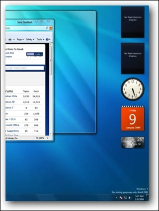 Barre latérale de Windows 7