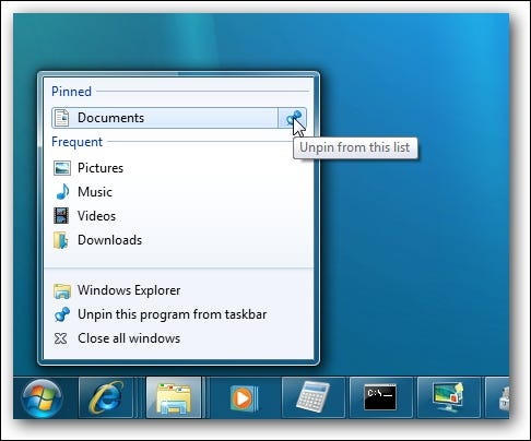 Liste de raccourcis Windows 7