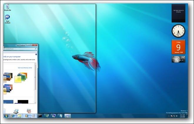 Fenêtre Tile Windows 7 à gauche