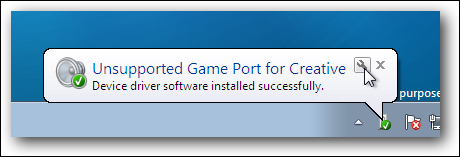 Ballon de port de jeu de pilote de périphérique Windows 7