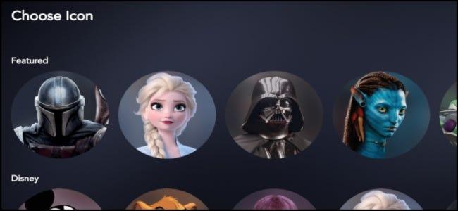 Sélection d'icônes Disney +