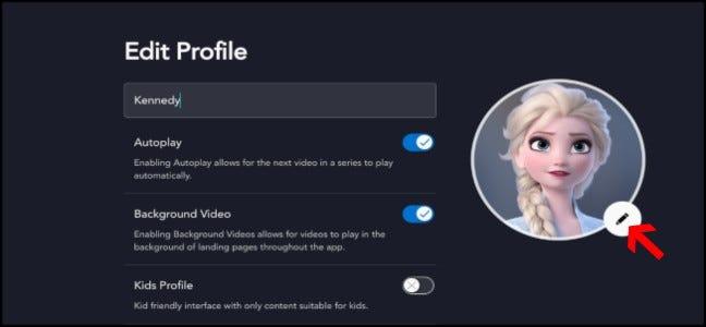 Paramètres de profil Disney +