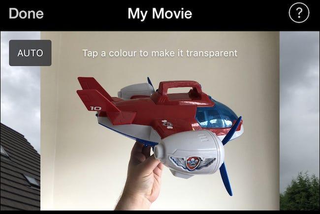 Appuyez sur une couleur pour la rendre transparente