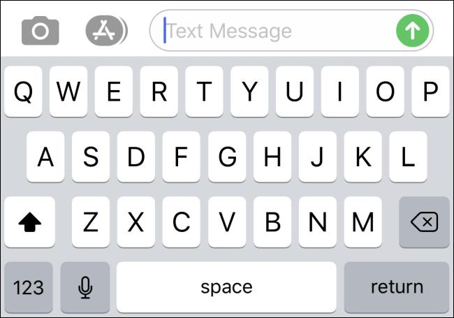 Un clavier à l'écran pour iPhone sans bouton Emoji