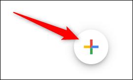 Placez votre curseur sur le signe plus multicolore (+).