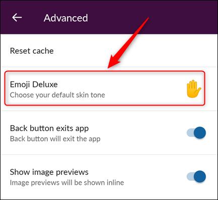 "le ""Emoji Deluxe"" option"