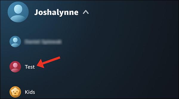 Appuyez sur le nom du profil pour y accéder.