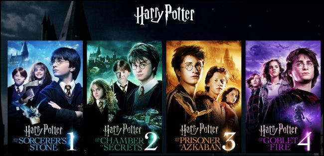Films Harry Potter sur HBO Max