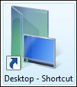 Raccourci sur le bureau pour ouvrir le dossier du bureau