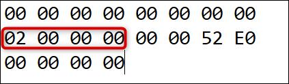 Il s'agit du nombre de remappages (plus un), suivi de 6 zéros.