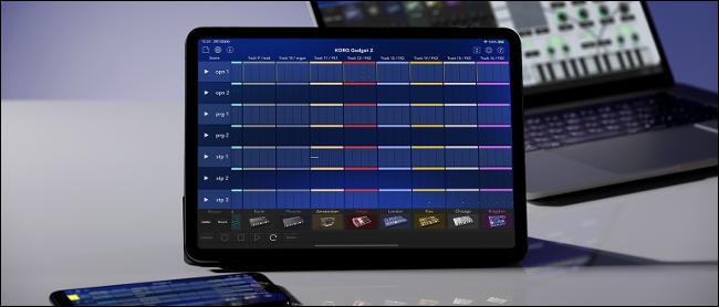 Gadget KORG fonctionnant sur un iPad Pro
