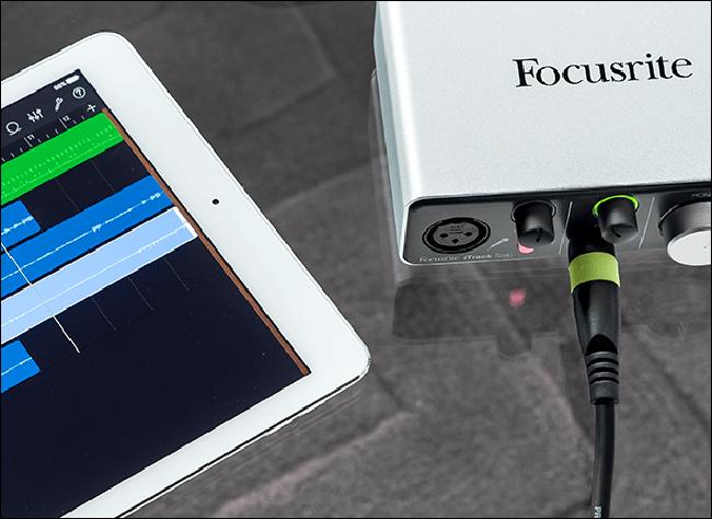 Focusrite iTrack Solo avec iPad