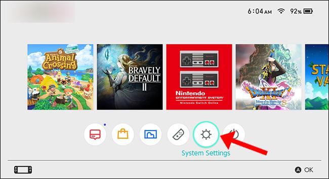 Paramètres système de la Nintendo Switch
