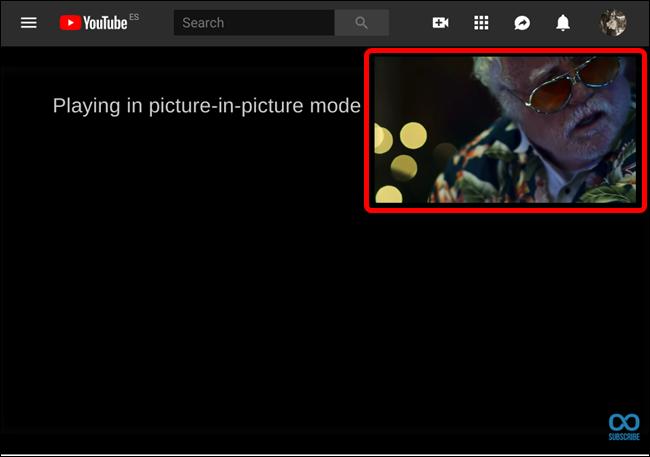 L'écran vidéo flottant Picture-in-Picture.