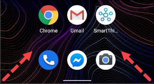 balayez pour ouvrir l'assistant Google