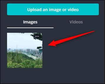 """Cliquez sur votre photo téléchargée dans le """"Images"""" section."""