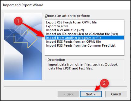 Importer des contacts depuis un autre fichier