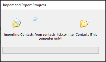 Importer des données de contacts