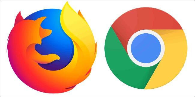 Logos de navigateur Mozilla Firefox et Google Chrome