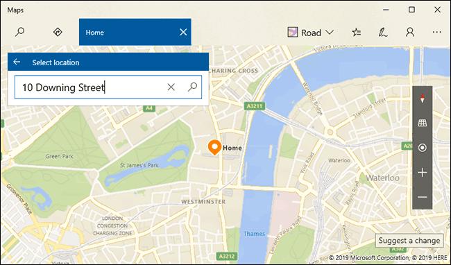 Recherchez votre domicile, puis appuyez sur Entrée ou cliquez sur le bouton de recherche