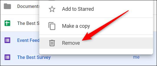 """Sélectionnez un fichier, cliquez dessus avec le bouton droit de la souris, puis cliquez sur """"Supprimer"""" pour le supprimer"""