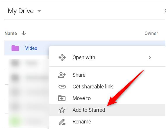 """Cliquez avec le bouton droit sur un fichier / dossier, puis cliquez sur """"Ajouter aux favoris."""""""