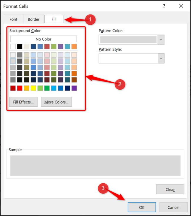 Changer la couleur de remplissage d'une ligne de tableau