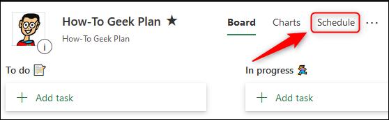 L'option Planifier.