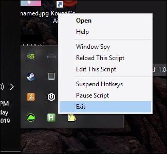 script autohotkey en cours d'exécution