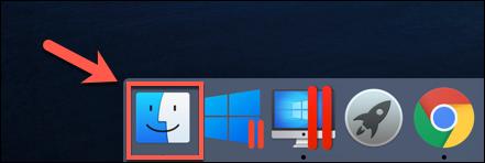 L'icône du Finder dans le Dock macOS
